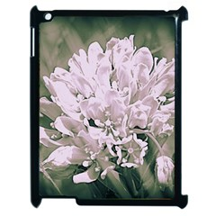 White Flower Apple Ipad 2 Case (black) by uniquedesignsbycassie