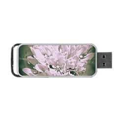 White Flower Portable Usb Flash (two Sides) by uniquedesignsbycassie