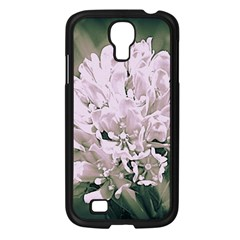 White Flower Samsung Galaxy S4 I9500/ I9505 Case (black) by uniquedesignsbycassie