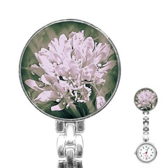 White Flower Stainless Steel Nurses Watch by uniquedesignsbycassie