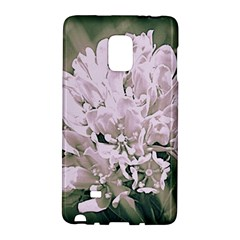 White Flower Galaxy Note Edge by uniquedesignsbycassie