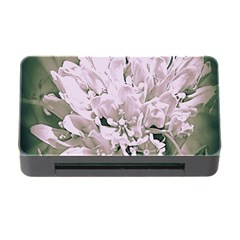 White Flower Memory Card Reader With Cf by uniquedesignsbycassie