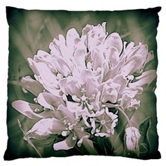 White Flower Large Flano Cushion Case (two Sides)