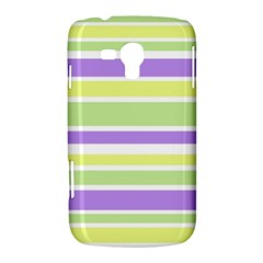 Yellow Purple Green Stripes Samsung Galaxy Duos I8262 Hardshell Case  by BrightVibesDesign