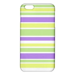 Yellow Purple Green Stripes Iphone 6 Plus/6s Plus Tpu Case by BrightVibesDesign