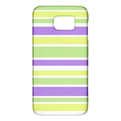 Yellow Purple Green Stripes Galaxy S6 by BrightVibesDesign