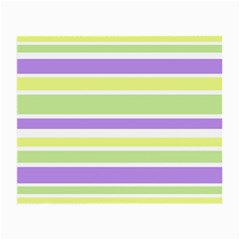 Yellow Purple Green Stripes Small Glasses Cloth (2-Side) by BrightVibesDesign