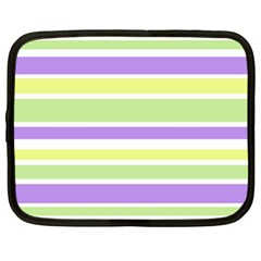 Yellow Purple Green Stripes Netbook Case (XXL)  by BrightVibesDesign