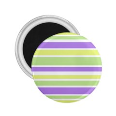 Yellow Purple Green Stripes 2 25  Magnets by BrightVibesDesign