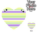 Yellow Purple Green Stripes Playing Cards 54 (Heart)  Front - Spade4