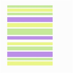 Yellow Purple Green Stripes Small Garden Flag (two Sides) by BrightVibesDesign