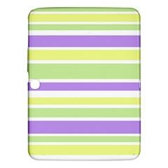 Yellow Purple Green Stripes Samsung Galaxy Tab 3 (10 1 ) P5200 Hardshell Case  by BrightVibesDesign