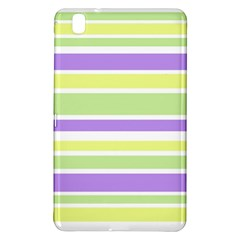 Yellow Purple Green Stripes Samsung Galaxy Tab Pro 8 4 Hardshell Case by BrightVibesDesign