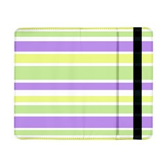 Yellow Purple Green Stripes Samsung Galaxy Tab Pro 8 4  Flip Case by BrightVibesDesign