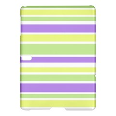 Yellow Purple Green Stripes Samsung Galaxy Tab S (10 5 ) Hardshell Case  by BrightVibesDesign