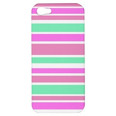 Pink Green Stripes Apple iPhone 5 Hardshell Case
