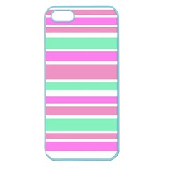 Pink Green Stripes Apple Seamless iPhone 5 Case (Color)