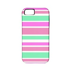 Pink Green Stripes Apple iPhone 5 Classic Hardshell Case (PC+Silicone)
