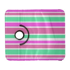 Pink Green Stripes Samsung Galaxy S  Iii Flip 360 Case by BrightVibesDesign