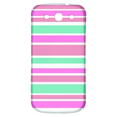 Pink Green Stripes Samsung Galaxy S3 S III Classic Hardshell Back Case
