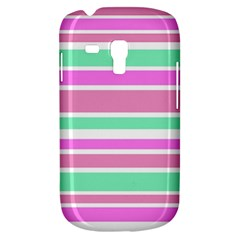 Pink Green Stripes Samsung Galaxy S3 MINI I8190 Hardshell Case
