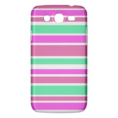 Pink Green Stripes Samsung Galaxy Mega 5.8 I9152 Hardshell Case
