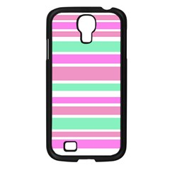 Pink Green Stripes Samsung Galaxy S4 I9500/ I9505 Case (Black)