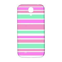 Pink Green Stripes Samsung Galaxy S4 I9500/i9505  Hardshell Back Case by BrightVibesDesign