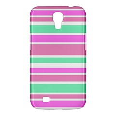 Pink Green Stripes Samsung Galaxy Mega 6 3  I9200 Hardshell Case by BrightVibesDesign