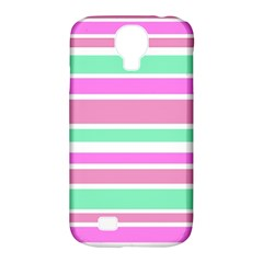 Pink Green Stripes Samsung Galaxy S4 Classic Hardshell Case (PC+Silicone)