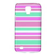Pink Green Stripes Galaxy S4 Active