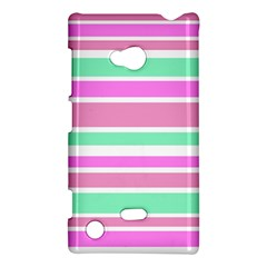 Pink Green Stripes Nokia Lumia 720 by BrightVibesDesign