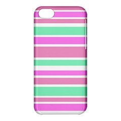 Pink Green Stripes Apple iPhone 5C Hardshell Case