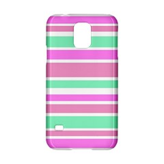 Pink Green Stripes Samsung Galaxy S5 Hardshell Case