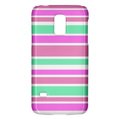 Pink Green Stripes Galaxy S5 Mini
