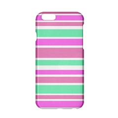 Pink Green Stripes Apple iPhone 6/6S Hardshell Case