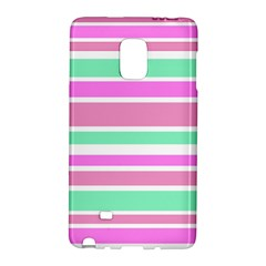 Pink Green Stripes Galaxy Note Edge by BrightVibesDesign