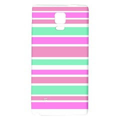 Pink Green Stripes Galaxy Note 4 Back Case