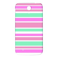 Pink Green Stripes Samsung Galaxy Mega I9200 Hardshell Back Case by BrightVibesDesign