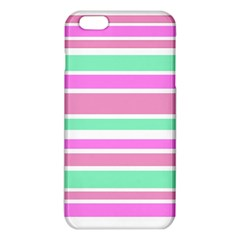 Pink Green Stripes Iphone 6 Plus/6s Plus Tpu Case by BrightVibesDesign