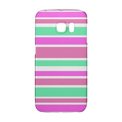 Pink Green Stripes Galaxy S6 Edge