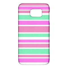 Pink Green Stripes Galaxy S6