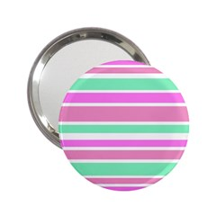 Pink Green Stripes 2.25  Handbag Mirrors