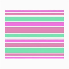Pink Green Stripes Small Glasses Cloth by BrightVibesDesign