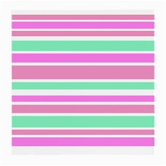 Pink Green Stripes Medium Glasses Cloth (2-Side)