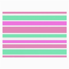 Pink Green Stripes Large Glasses Cloth (2 Side) by BrightVibesDesign