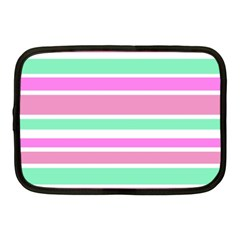 Pink Green Stripes Netbook Case (Medium)