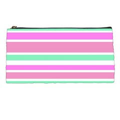 Pink Green Stripes Pencil Cases