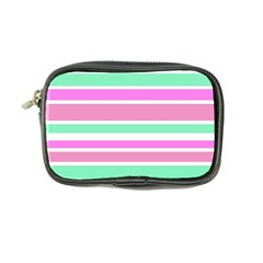 Pink Green Stripes Coin Purse