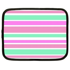 Pink Green Stripes Netbook Case (XXL)